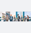 business people group hand shake agreement vector image vector image