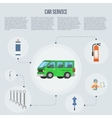 Car shop infographics vector image vector image
