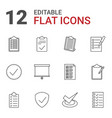 checkmark icons vector image vector image