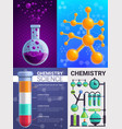 chemistry banner set cartoon style vector image vector image