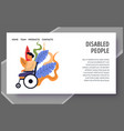 child with special needs disabled people landing vector image vector image