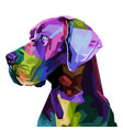 colorful great dane dog on pop art style vector image vector image