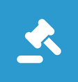court law icon white on the blue background vector image vector image