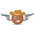 cowboy chocolate biscuit character cartoon vector image vector image