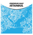 creative and modern light blue map istanbul vector image