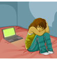 cyber bullying vector image vector image