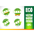 Eco Badge Logo vector image vector image