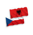 flags czech republic and albania on a white vector image vector image