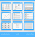 flat windows frame set 2 vector image vector image