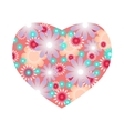 Floral heart with flowers vector image vector image