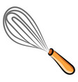 hand mixer drawing on white background vector image