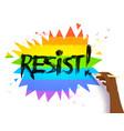 hand writing resist slogan vector image vector image