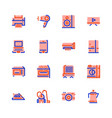icons household appliances pink vector image vector image