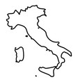 italy - solid black outline border map country vector image vector image