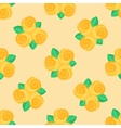 Little yellow rose seamless background vector image vector image