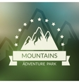 Mountain landscape background Outdoor vector image vector image