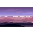 mountains peaks background with plane vector image vector image