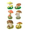 Mushrooms set 002 vector image