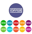 Offer flat icon vector image vector image