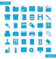 office supply blue icons set style vector image vector image