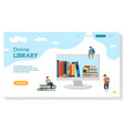 online library website page for landing books vector image