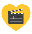 open movie clapper board template icon flat vector image