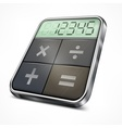 Pocket calculator on white vector image vector image