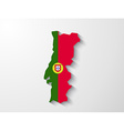portugal map with shadow effect presentation vector image vector image