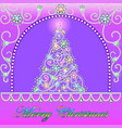 postcard with christmas tree made precious vector image vector image