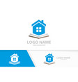 real estate and book logo combination house vector image