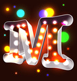 Retro vegas lamps ABC for signboard vector image vector image