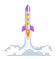 rocket start to space to discover undiscovered vector image vector image