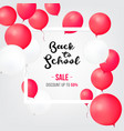 sale shopping banners back to school sale icons vector image vector image