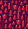 seamless pattern of a candles vector image vector image