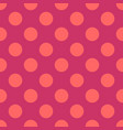 seamless pattern with neon pink polka dots vector image vector image
