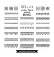 set 20 doodles lace seamless brushes vector image vector image