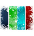set of four colorful christmas background banners vector image