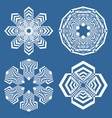 set of simple geometric design elements white vector image vector image