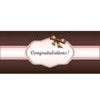 shabby chic girly congratulations card swatch vector image vector image