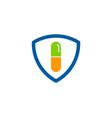 shield medicine logo icon design vector image