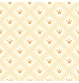 Simple seamless pattern with crown Orange and vector image vector image