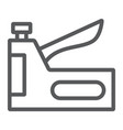 staple gun line icon tool and repair vector image vector image