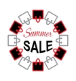 Summer sale text on bag design vector image