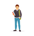 teenager student vector image