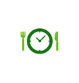 time food logo icon design vector image vector image
