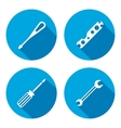 Tool icon Spanner nut wrench screwdriver vector image vector image