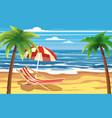 vacation travel relax tropical beach umbrella vector image vector image