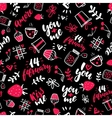 Valentine s Day seamless pattern Isolated vector image