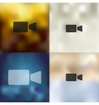 video icon on blurred background vector image vector image