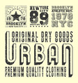 vintage t-shirt print stamp for t shirts applique vector image